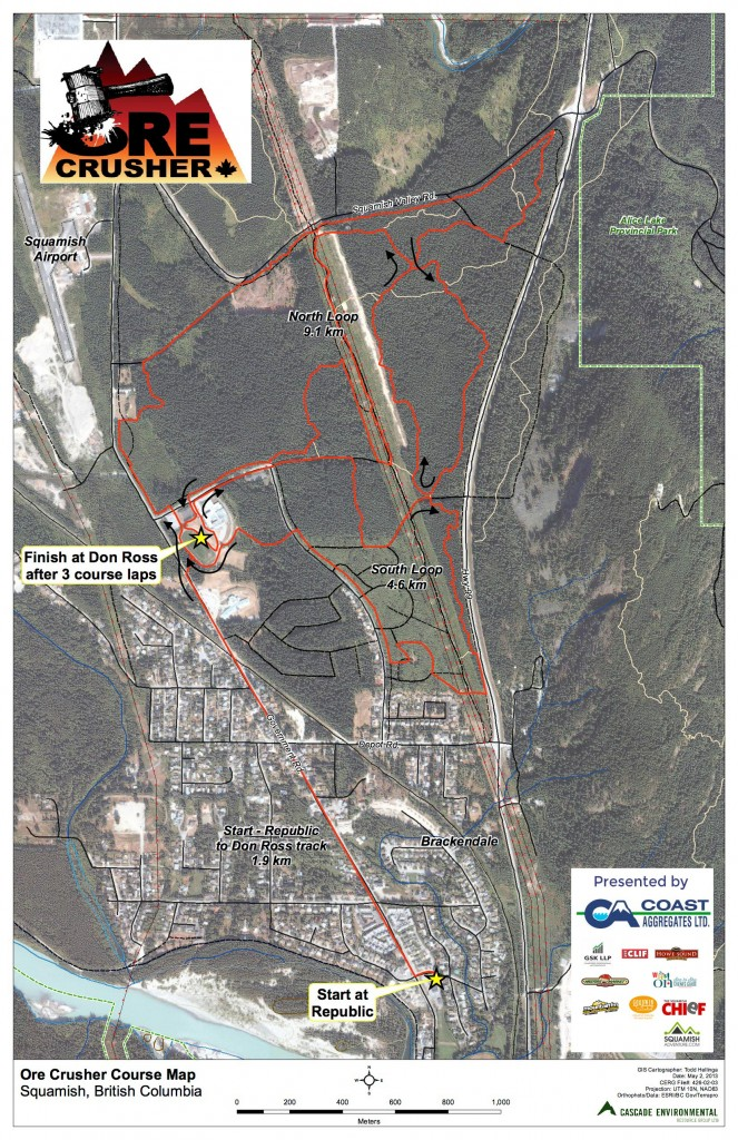2016 OreCrusher Course Map