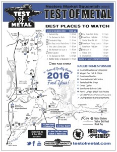 2016 Test of Metal Course Map