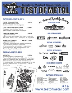 2016 Test of Metal Schedule of Events